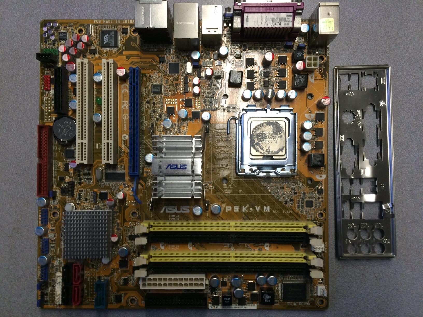 Asus P5K LAN driver problem