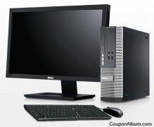 Dell Optiplex 390 G630 Duo Core Business Class SFF Desktop W/ 19